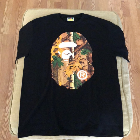 7d023ab2 Bape Shirts | Bathing Ape Forest Camo Big Head Tee | Poshmark